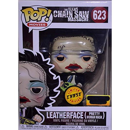 Funko POP! Movies: The Texas Chainsaw Massacre - Leatherface [Pretty Woman Mask] #623 - Chase Variant H.T. Exclusive! [Extremely Rare!] - Leatherface Masks