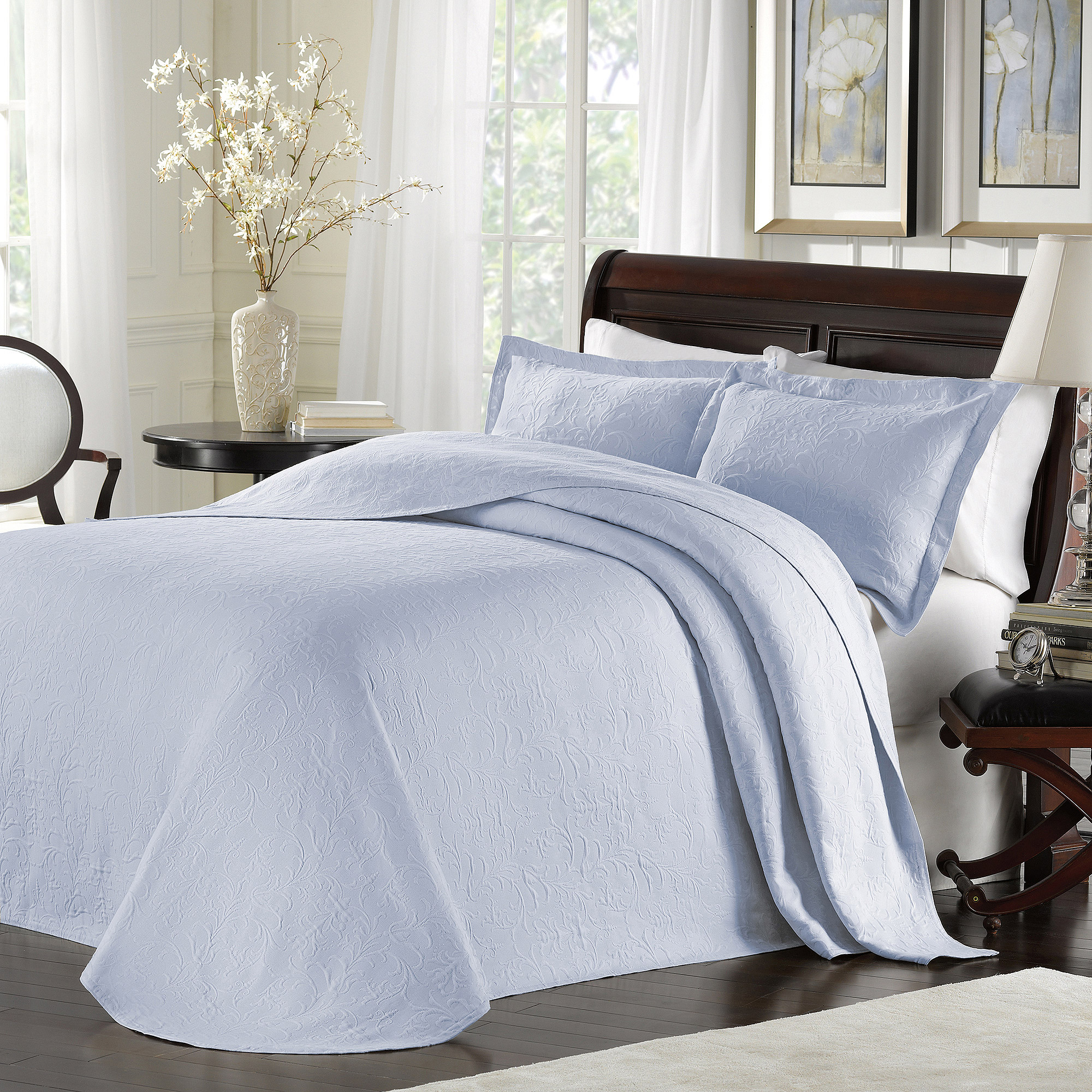 LaMont Home Majestic Collection – 100% Cotton Matelassé Bedspread