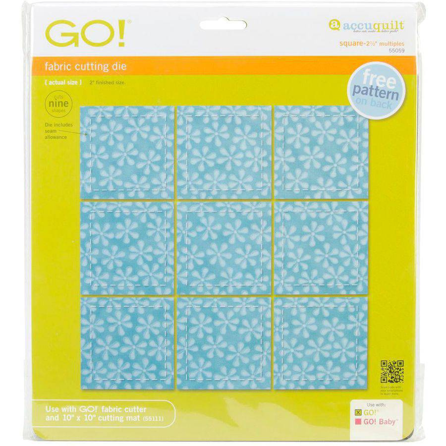 GO! Fabric Cutting Dies-Square 2-1/2 Inch Multiples