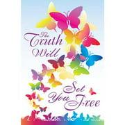 """Banner-Butterflies-Truth Set Free (12"""" x 18"""") (Indoor)"""