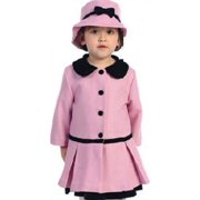 Angles Garment Toddler Girls Size 3T Pink Classic Coat Hat Set