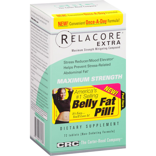 Relacore Extra Maximum Strength Tablets Dietary Supplement, 72 count