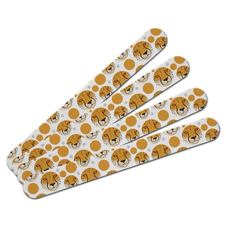 Cheetah Face Safari Double-Sided Nail File Emery Board Set 4 Pack](Cheetah Makeup)