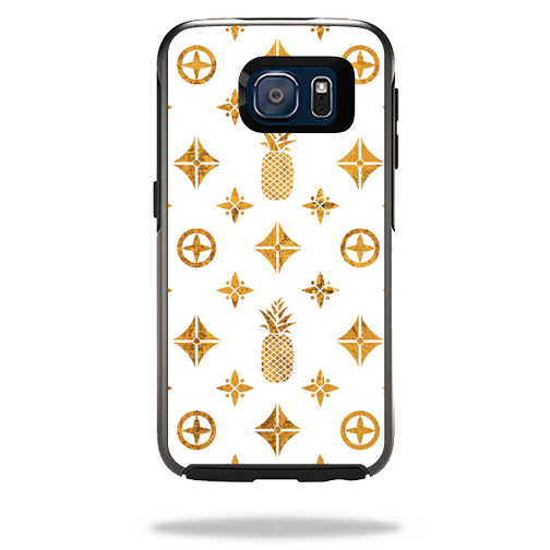 MightySkins Protective Vinyl Skin Decal for OtterBox Symmetry��Samsung Galaxy S6 wrap cover sticker skins Gold Pineapples