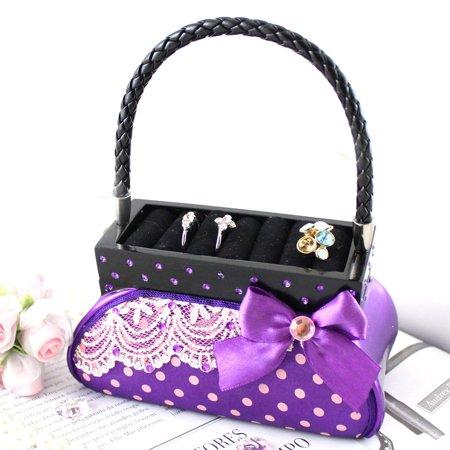 Polka Dot Romance Handbag Ring Holder and Jewelry Box