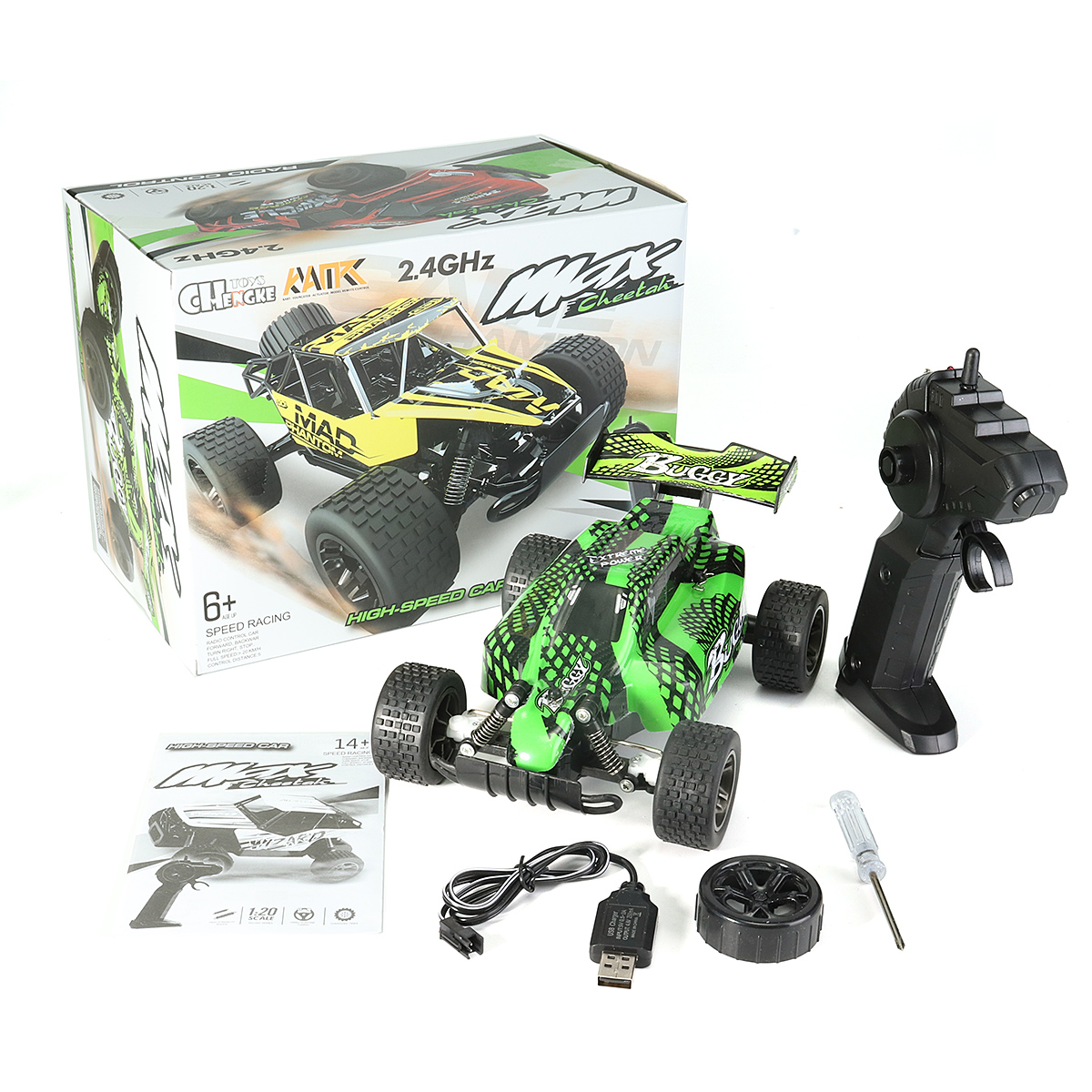 1:20 2.4GHz 4WD High Speed Radio Fast Remote Control RC Car RTR Racing buggy Car Off Road Toy For Children Gift