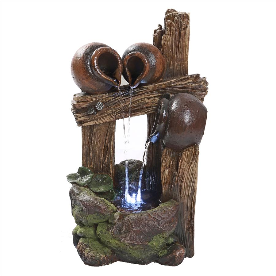 The Cascading Urns of Ravello Illuminated Garden Fountain by Design Toscano