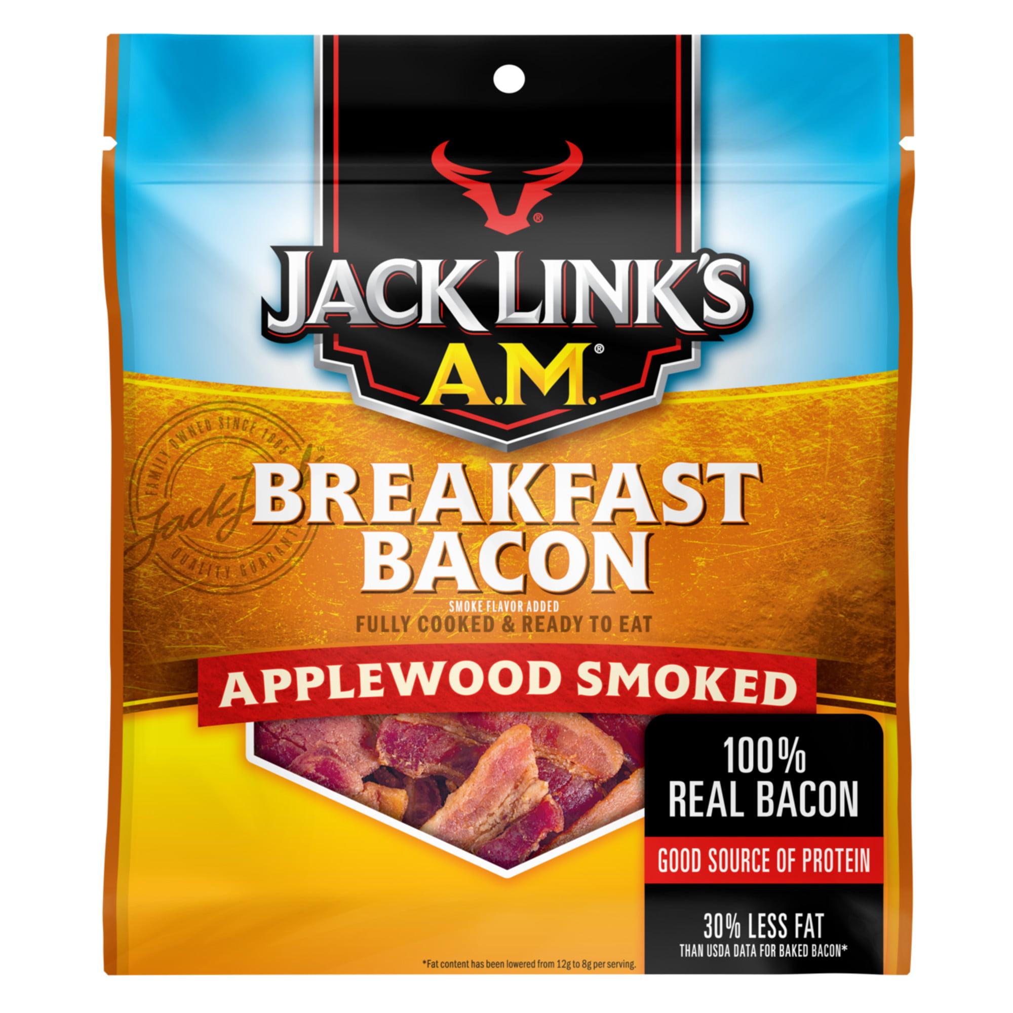 Jack Links AM Breakfast Bacon, Applewood Smoked, 2.5oz