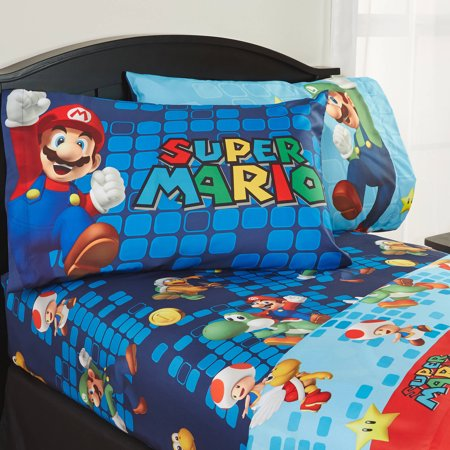 Super Mario Sheet Set Walmart Com