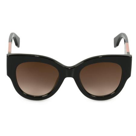 9c360d49f23e Fendi - Fendi FF0264S 0807 Black Cat Eye Sunglasses - Walmart.com