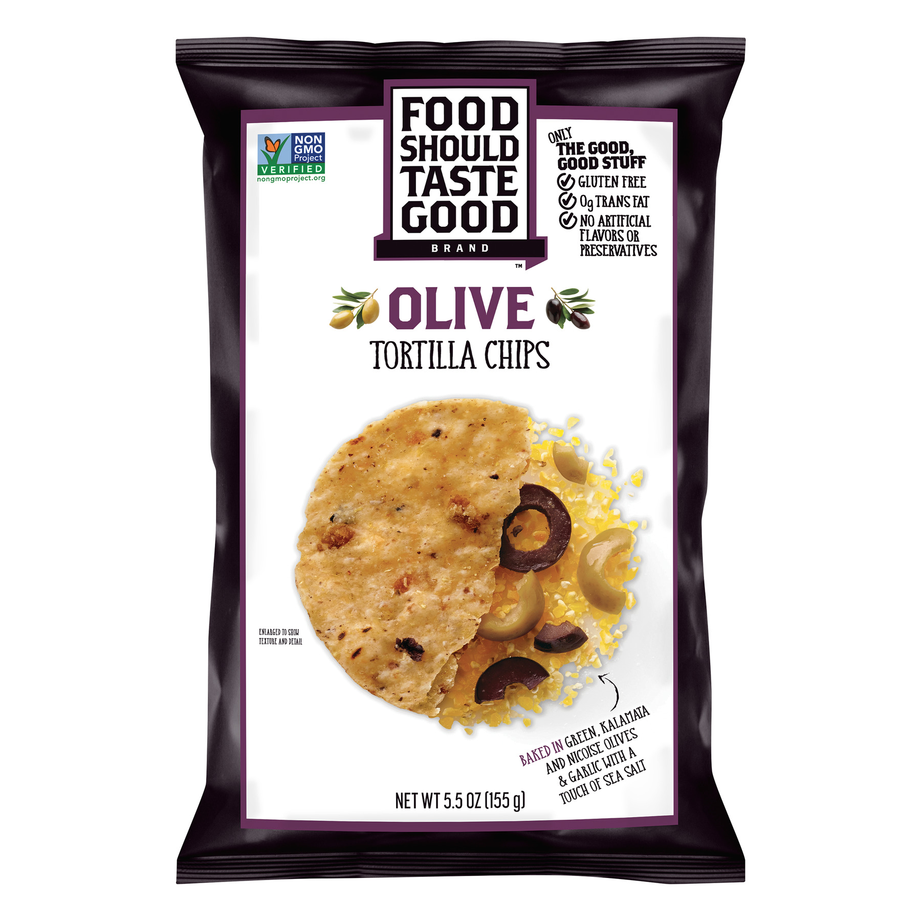 Food Should Taste Good Olive Tortilla Chips, 5.5 oz