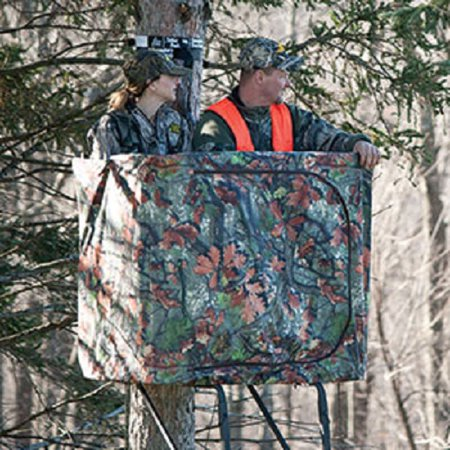Ladder Treestand Curtain with Zippered Door, For Standard 2-Person Ladder Stands, Rivers