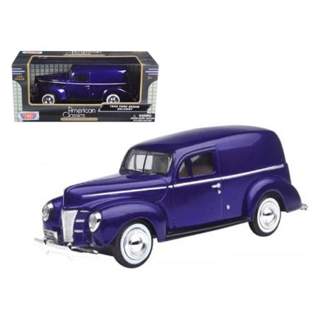1940 Ford Sedan Delivery Purple 1/24 Diecast Car Model by - Ford Delivery Car Bank