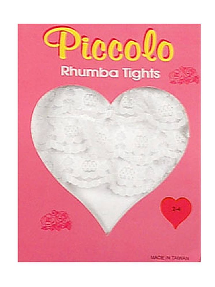 Newborn Infant Baby Toddler Girls WHITE Ruffle RHUMBA Tights PICCOLO Girl 0-4T