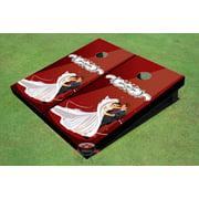Red Wedding Dance Themed Cornhole Boards