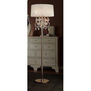 63 Quot In Aurora Barocco Shade Crystal Gold Floor Lamp Walmart Com Walmart Com