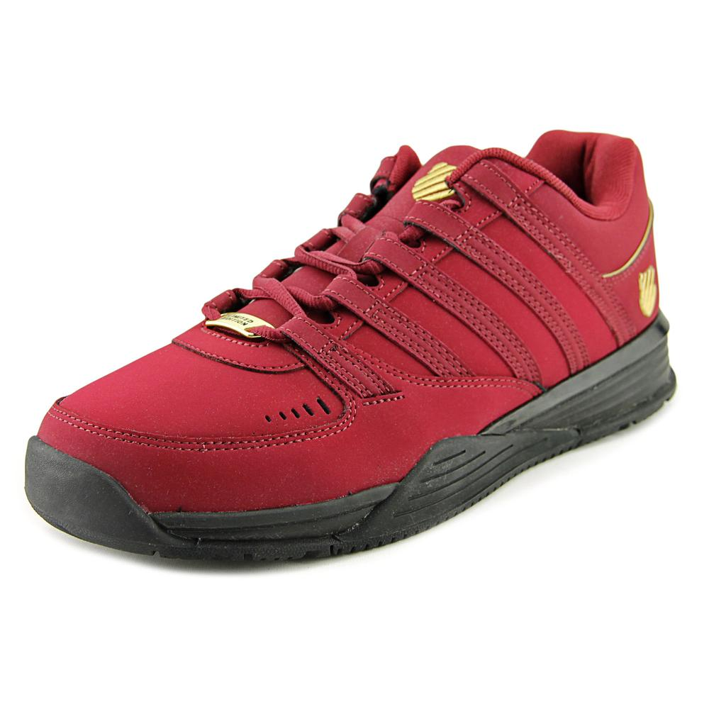 K-Swiss Baxter Men Round Toe Leather Burgundy Sneakers by K-Swiss
