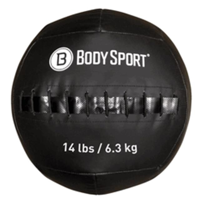 Body Sport ZZRMB14WB 14 lbs Wall Ball, Black