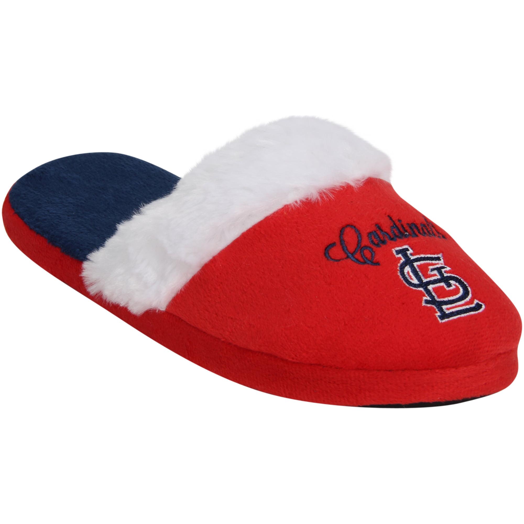 St. Louis Cardinals Women's Colorblock Fur Slide Slippers