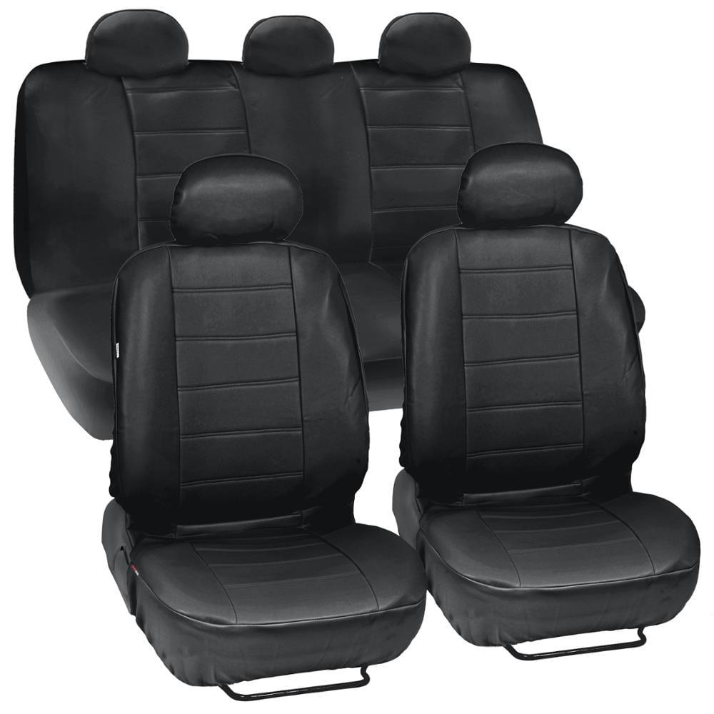 full set Leatherette black Car seat covers fit MAZDA 6