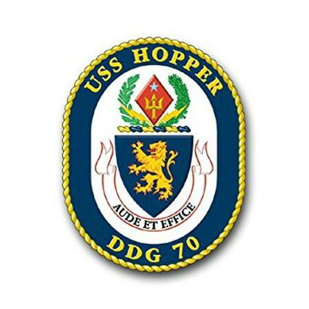 (US Navy Ship USS Hopper DDG-70 Decal Sticker 3.8