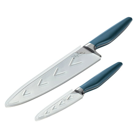 Ayesha Collection Japanese Steel Cooking Knife Set, Twilight Teal, 2-Piece