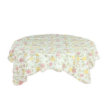 Patterned Tablecloth (Home Picnic Round Bi-color Rose Pattern Tablecloth Table Cloth Cover 60)