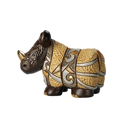 De Rosa - African Rhino Figurine (Rosa Rahmen-ray-verbot-flieger)