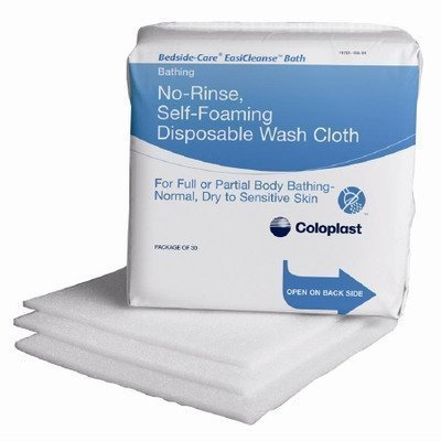 30 Personal Care - Coloplast Bath Wipe Bedside care Easicleanse Soft Pack box of 30