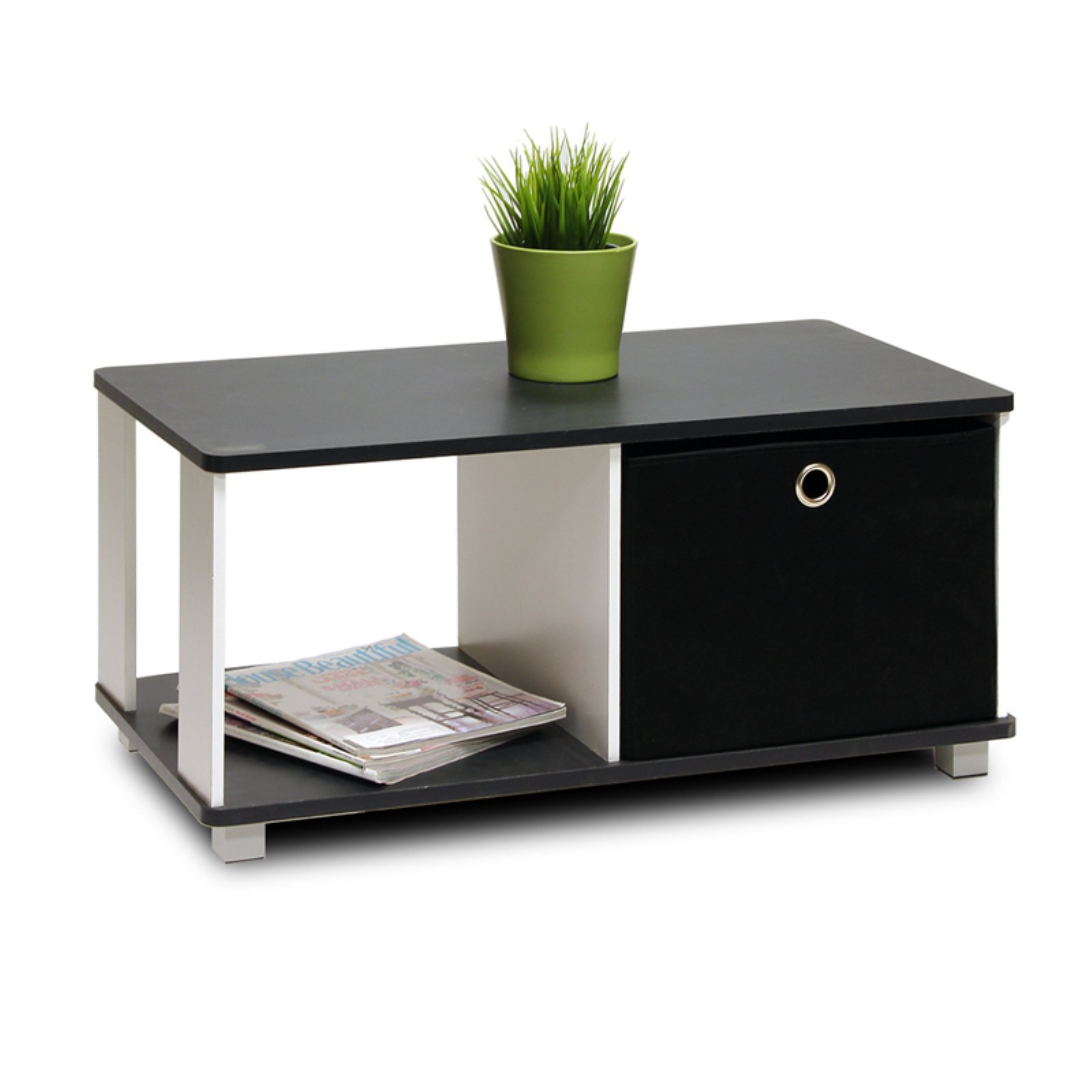 Furinno 99954BK BK Coffee Table with Bin Drawer by Furinno