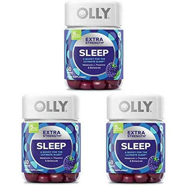 Olly Extra Strength Sleep Gummy 50 Gummies Blackberry Mint
