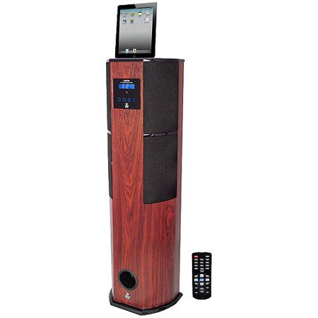 Pyle Home PHST96IPCW 30-Pin iPod/iPhone/iPad Speaker Dock Tower (Cherry Wood)
