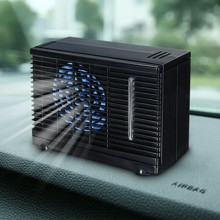 Universial 2-Speed Mini Home Car Air Water Cooler Cooling Fan, Portable Air Conditioner, Humidifier, Purifier 3 in 1 ICE Evaporative Cooler for Bedroom Travel Office (Travel Trailer Air Conditioner)
