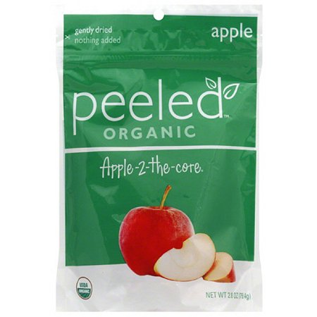 ***discontinued***Peeled Snacks Organic Apple-2-The-Core Dried Fruit, 2.8 oz, (Pack of 12)
