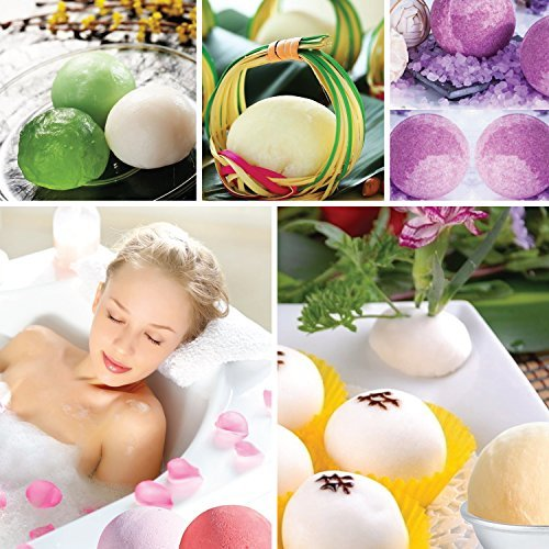 Spoons,Warp Bags Gift Bags and Rubber Band Set for Crafting Your own Fizzles by SWISSELITE 12 Pieces 3 Size DIY Mould Bath Bomb Mold Set 60 Pcs