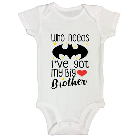 "Dalmatian Onesie Kids (Funny Onesie Bodysuit""Who Needs Batman I Have My Big Brother""Funny Threadz Kids 24 Months Short,)"
