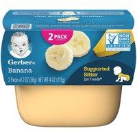 (Pack of 8) Gerber 1st Foods Baby Food, Banana, 2-2 oz Tubs