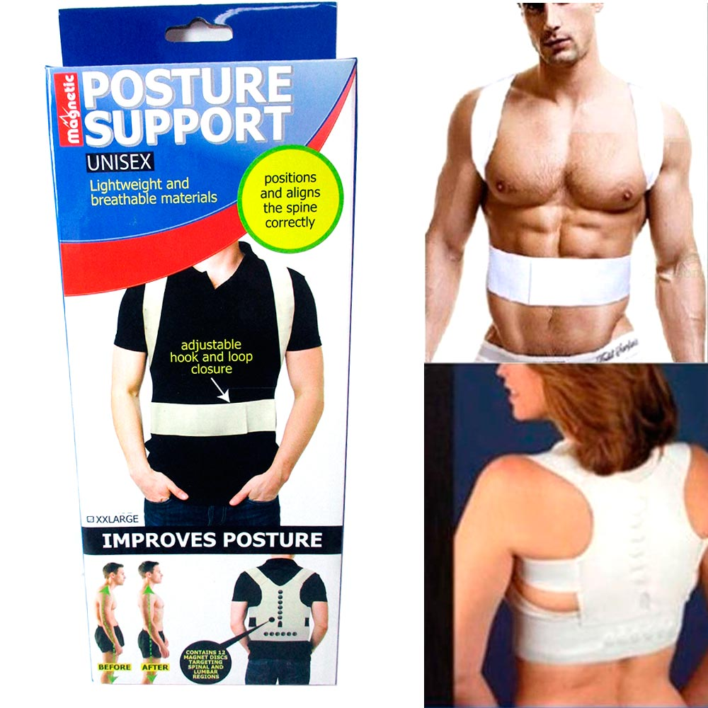 Magnetic Posture Corrector Support Brace Therapy Comfort Shoulder Back Relief 2X