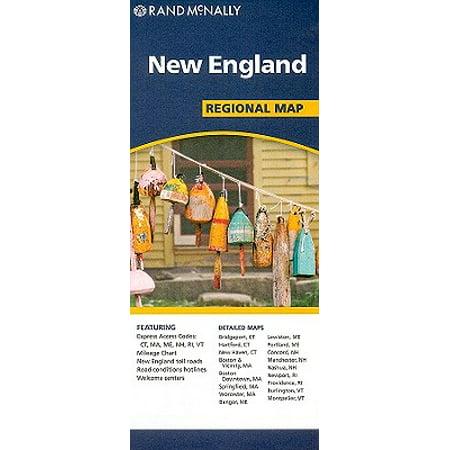 Rand mcnally new england regional map - folded map: 9780528881855 ()