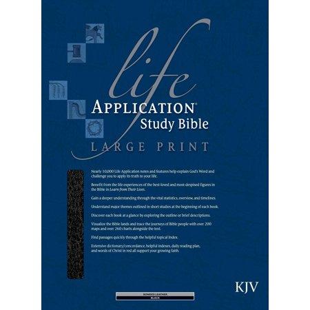 KJV Life Application Study Bible/Large Print-Black Bonded Leather