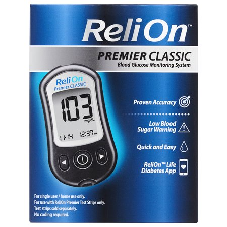 ReliOn Premier Classic Blood Glucose Monitoring System