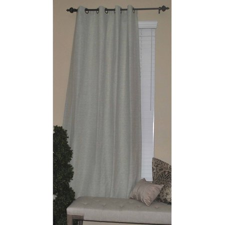 Solid Texture Solar Blackout Curtain, Ivory ()