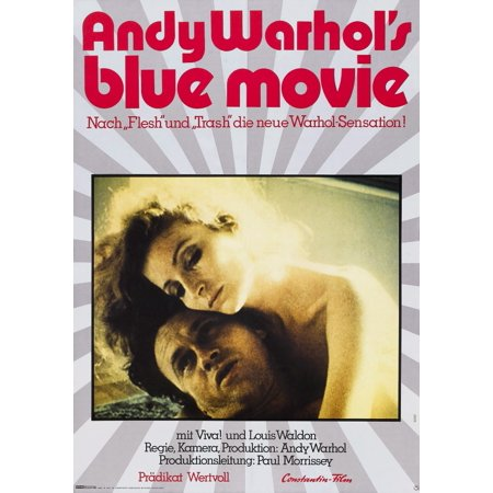 Andy WarholS Blue Movie German Poster Art From Left Louis Waldon Viva 1969 Movie Poster