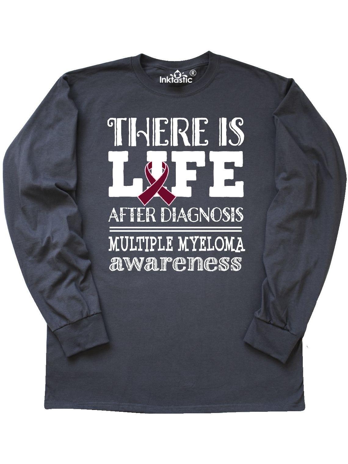 Inktastic Multiple Myeloma Cancer Awareness T-Shirt Bone Ribbon Gift Burgundy