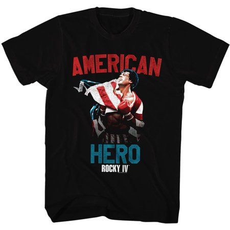 Rocky 1970s Sports Boxing Champion American Hero Movie Stallone Adult TShirt Tee](Clothes Of The 1970s)