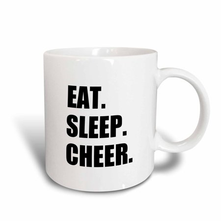 3dRose Eat Sleep Cheer - passionate about cheerleading - fun cheerleader team - Ceramic Mug, (Best Nba Cheerleading Teams)