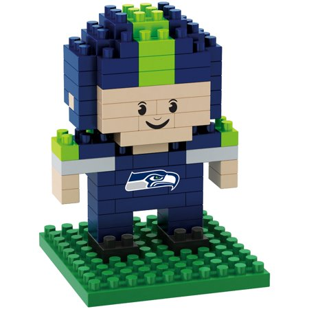 Seattle Seahawks NFL BRXZL 89 Piece 3-D Construction Toy Football Player