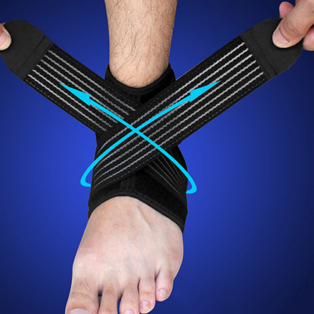 Ankle Brace Wrap Foot Support Adjustable Strap Sports Protect