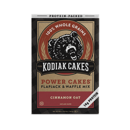 Kodiak Cakes Power Cakes Cinnamon Oat Pancake and Waffle Mix 20 Oz