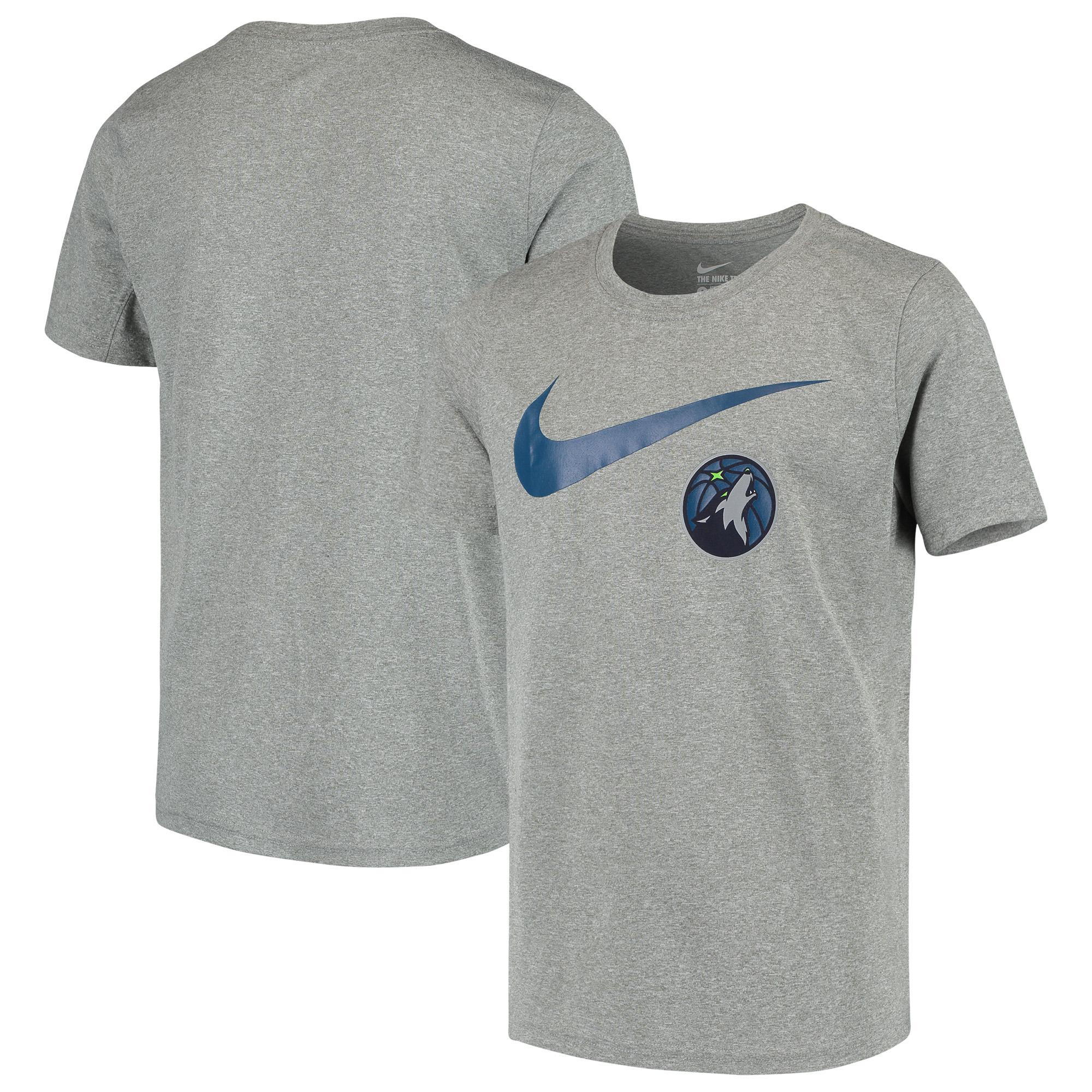 Minnesota Timberwolves Nike Swoosh Logo Legend T-Shirt - Heathered Gray